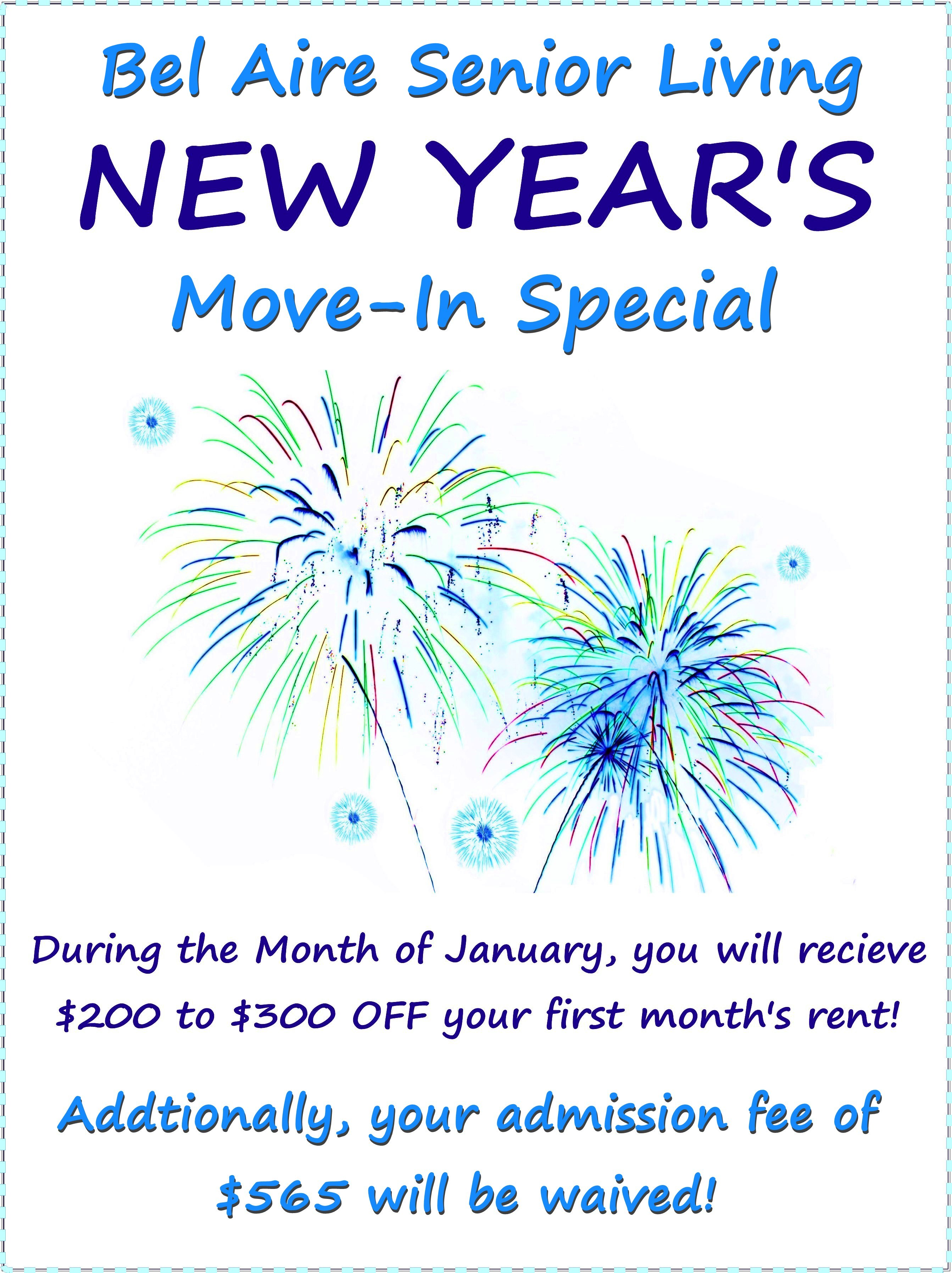 January Move-In Special