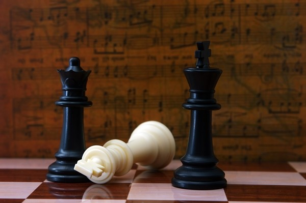 Chess against musical background
