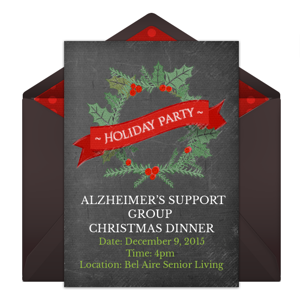Alzheimer's Support Group – Christmas Dinner