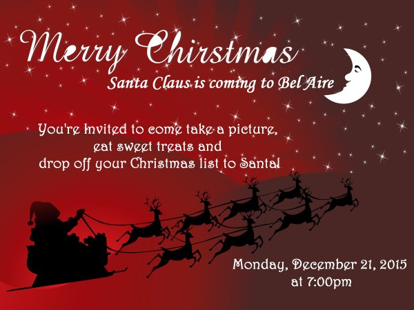 Santa Claus Visit Invitation
