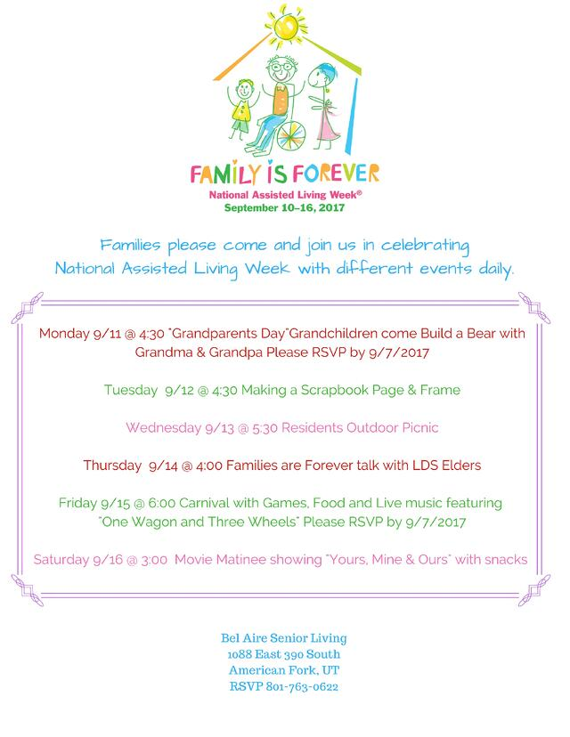 Assisted Living Week Flyer