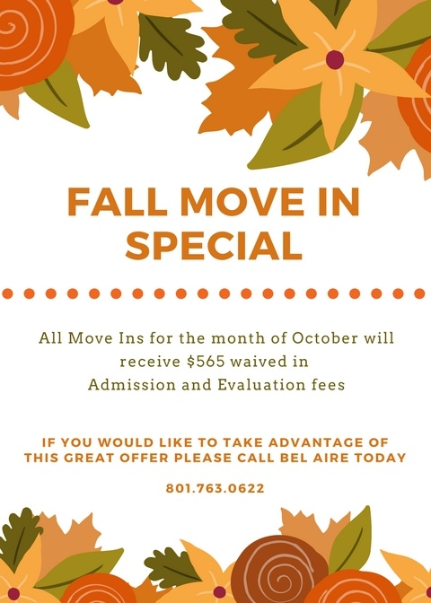 Fall Move In Special
